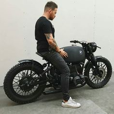 All black BMW R100   FOLLOW @storefrontcollective  TAG a friend to ride this bike with  @arjanvandenboom - #bmw #bmwcaferacer #black