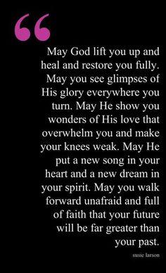 May God lift you up ..