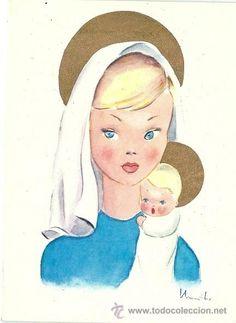 6036B - EDICIONES N SERIE A.4 - DIPTICA - DATA 1968 - 15X11 CM - ILUSTRA MANTHO (Postales - Dibujos y Caricaturas)