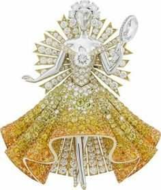 "The Look: sun dress clip from ""Peau d'Âne"" (""Donkey Skin""). Part of Van Cleef & Arpels' ""Peau d'Âne"" collection"