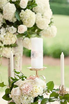 """Unity candle--this has to do with being """"made as one"""" and embracing the unity of marriage."""