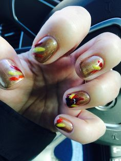 Gobble gobble this turkey shellac mani is super cute and was fairly easy!