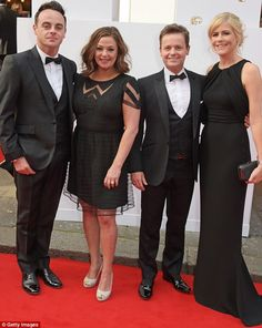 Ant and Dec pose with their partners on BAFTA red carpet #dailymail