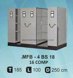 Mobile File Brother MFB-4 BS18 (16 Compartments)