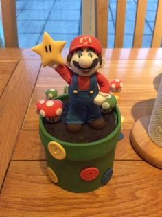 It's A Me! Mario Cake Topper.  xx by Kizzy's Cakes