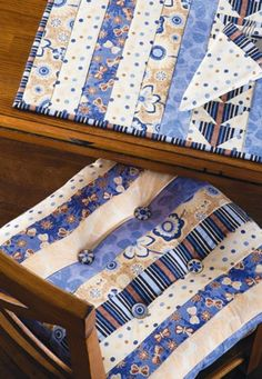 Make your own stylish chair cushion and placemats with this pieced tutorial. | home decor | shop supplies @ joann.com