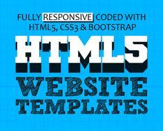 15 New HTML5 Website Templates (PSD & HTML) #html5templates #psdtemplates #webtemplates #responsivedesign