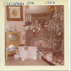 Christmas Eve-1960... I've been feeling nostalgic lately over Christmas' from the past.