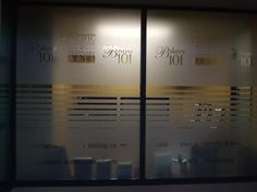 Dark picture but cool glass vinyls! Produced and installed by FASTSIGNS Vancouver for Pacific Institute of Culinary Arts www.fastsigns.com/653 Fast Signs, Dark Pictures, Glass Partition, Culinary Arts, Vinyls, Vancouver, Custom Design, Cool Stuff, Bespoke Design