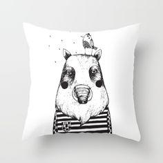 wild boar & friend society6.com/MiraMallius Wild Boar, Throw Pillows, Friends, Animals, Ideas, Amigos, Toss Pillows, Animales, Cushions