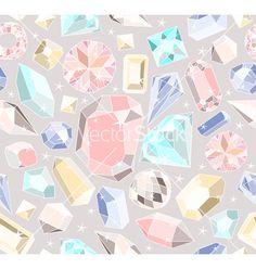Seamless pastel diamonds pattern vector - by lapesnape on VectorStock®