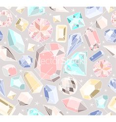 Seamless pastel diamonds pattern vector - by lapesnape on VectorStock®