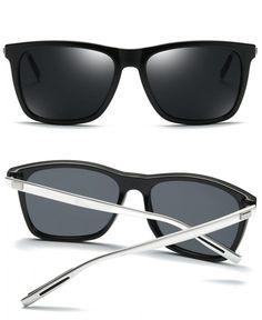 05bdad0d77b5 Unisex Polarized Sunglasses Classic Men Retro UV400 Brand Designer Sun  glasses - Black Silver - CJ184S96CQI