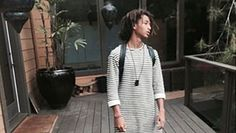 Jaden Smith is making another bold fashion choice! The 16-year-old actor stepped out in a skirt earlier this week while hanging with friends in Calabasas, Calif. He also recently posted pics to Instagram where he's rocking a black and white striped dress from TopShop. NEWS: The 11 Weirdest Things the Smith Kids Told the New York Times Up until this point, you probably remembered Jaden best from his superhero-inspired look at Kim and Kanye's wedding. It seems he's moved on to something more…