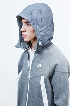 Nike Tech Fleece Super Zip Hoodie in Grey - Urban Outfitters