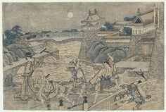 47 Ronin, Act 3 by Hokusai (1760 - 1849)