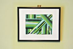 Green stripes collage wallart (full tutorial on our website)