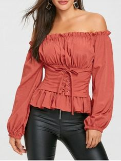 The Shoulder Lace Up Smocked Blouse Cheap Fashion online retailer providing customers trendy and stylish clothing including different categories such as dresses, tops, swimwear.Different Different may refer to: Stylish Outfits, Cute Outfits, Stylish Clothes, Trendy Clothing, Cheap Clothes, Stylish Dresses, Top Wedding Dresses, Fashion Brands, Fashion Site