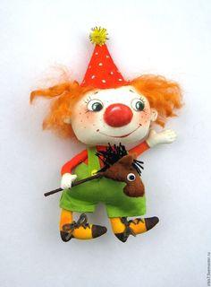 Купить Клоун - комбинированный, клоун, клоуны, лошадка, лошадка игрушка, 1 апреля, шутка
