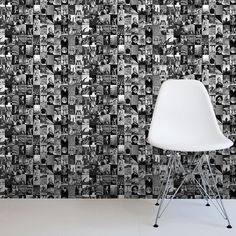 1 Wall Life Magazine Collage Pattern Photo Cover Wallpaper W10MLIFE01