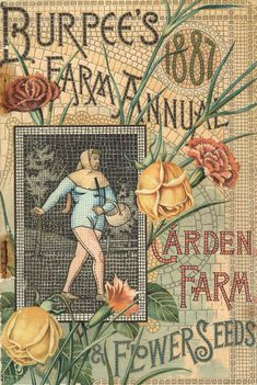 Burpee's 1887 Farm Annual Flower and Seeds catalog cover art