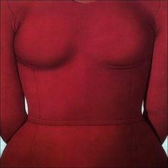 Art and beauty Domenico Gnoli. Vestito rosso, 1969.