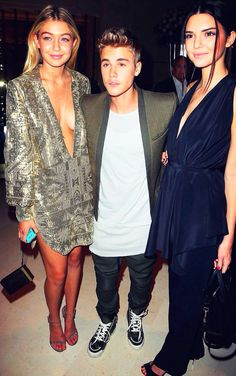 Justin Bieber With Gigi Hadid And Kendall Jenner