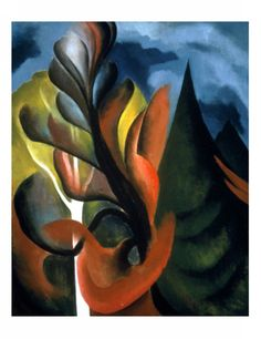 Maple and Cedar - Georgia O'Keeffe. Professional Artist is the foremost business magazine for visual artists. Visit ProfessionalArtistMag.com.- www.professionalartistmag.com