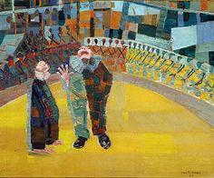 Circus(1957) - Oil on Canvas - Candido Portinari.