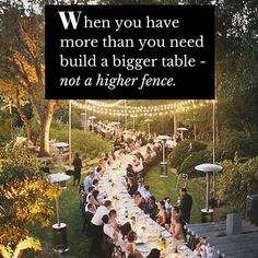 When you have more than you need, build a bigger table - not a higher fence. #refugees #welcome