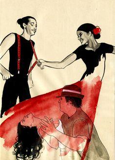 Sveta Dorosheva http://www.behance.net/gallery/Salsa-Dance-Sketchbook/1780448