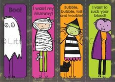 {FREE} Spooky Bookmarks for Halloween {UPDATED! Now includ