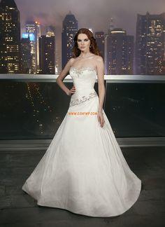Nadměrné velikosti Jaro S křišťálovou aplikací Levné svatební šaty