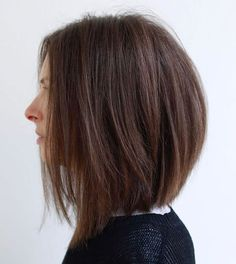 Angled Layered Bob For Straight Hair