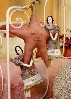 Mimin Dolls: Tilda na estrela -PAP com moldes-