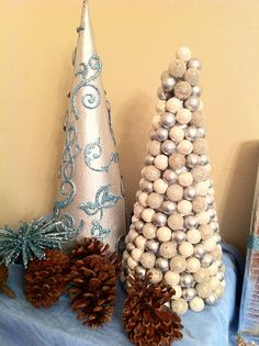 Shiny sparkly trees! Easy and cheap DIY project!