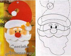 Christmas craft, great for Xmas scrapbook page Felt Christmas Decorations, Felt Christmas Ornaments, Noel Christmas, Christmas Crafts For Kids, Christmas Projects, Felt Crafts, Holiday Crafts, Christmas Templates, Christmas Printables