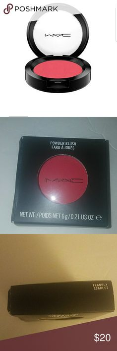 MAC Powder Blush Color: Frankly Scarlet. New in box never used. MAC Cosmetics Makeup Blush