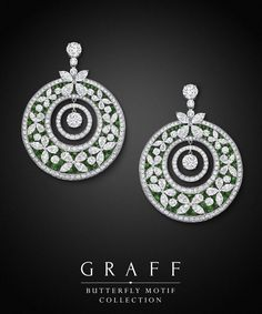 Graff Diamonds: Butterfly Motif Earrings