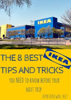 The 8 BEST IKEA tips and tricks for a fun, quick trip.  Ikea hacks for the family, how to save money at Ikea.