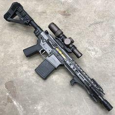 Tendie-Defender — Type-A pistol. Weapons Guns, Guns And Ammo, Ninja Weapons, Ar Build, Ar Pistol Build, Custom Guns, Custom Ar15, Firearms, Shotguns