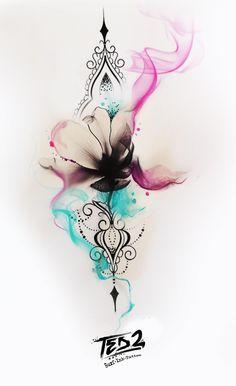 Tattoo Design Tattoo Girl Tattoo Tattoo Flash Tattoo Flower Design Flower Tattoo rnrnSource by Great Tattoos, Trendy Tattoos, Beautiful Tattoos, New Tattoos, Small Tattoos, Tattoos For Women, Tatoos, Diy Tattoo, Tattoo Fonts