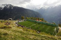 struckbysoccer:  A Swiss Soccer Field To play here would be amazing❤