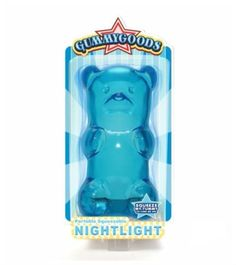 Gummy Lamp Gummy Bear Night Light Lamp Visual Stimulation Relaxation Nightlight (BLUE) - - Amazon.com
