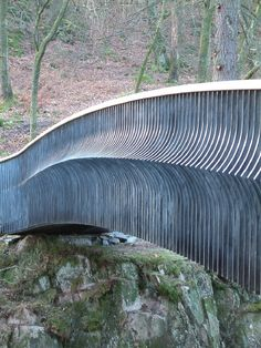 Woodburn Pedestrian Bridge, Skelwith, Cumbria, UK designed by Chris Brammall. Visit the slowottawa.ca boards >> https://www.pinterest.com/slowottawa/