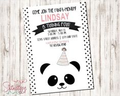 30 Best ideas for baby announcement party invitations Panda Themed Party, Panda Birthday Party, Panda Party, Bear Party, Bear Birthday, First Birthday Parties, First Birthdays, 8th Birthday, Birthday Ideas