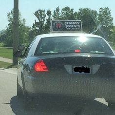 I saw this Jimmy Johns delivery car dressed up as a cop so he could pass people easier #Followme #CooliPhone6Case on #Twitter #Facebook #Google #Instagram #LinkedIn #Blogger #Tumblr #Youtube