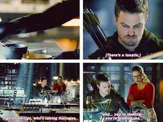 """You're making tea?"" Oliver & Felicity #Arrow"
