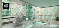 ON THE RIGHT TRACK | Pomysł na aranżację pokoju dziecięcego Spa, Loft, Lofts, Attic Rooms, Attic, Mezzanine