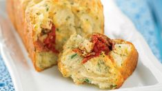 Recipes+ shows you how to make this tomato feta and salami pull apart t recipe.